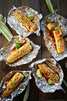 Roasted Corn with Harissa Butter