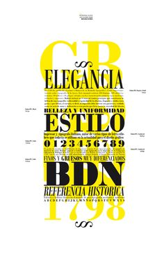 The typeface Bodoni was designed by Giambattista Bodoni. Again, the use of lighter font behind the main black font is what drew me to this design. Also, the varying weights and intensities of the typeface are quite effective.