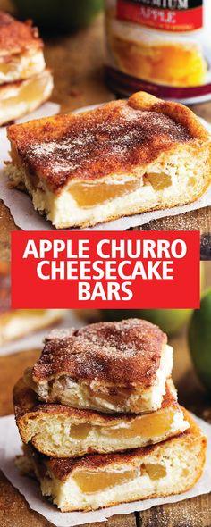 APPLE CHURRO CHEESECAKE BARS   Food Fun Kitchen