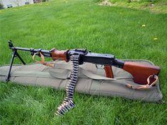 You're not bulletproof., RPD The Russian light machine gun chambered in. Weapons Guns, Guns And Ammo, Light Machine Gun, Gun Rooms, Soviet Army, Military Guns, Firearms, Hand Guns, Bullets