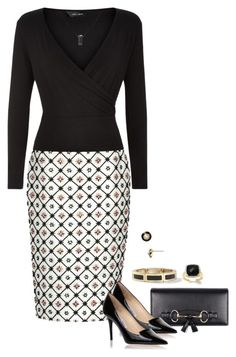 """Office Wear – 76"" by anastasiabeaverhausenxo ❤ liked on Polyvore featuring Dsquared2, Gucci, Jimmy Choo and Carolee"