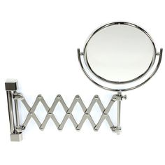 Double Face Wall Mounted Adjustable and Extendable 3X Magnifying Mirror