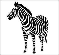 Animal and Bird Zebra stencils, stensils and stencles