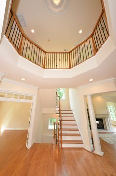 Daventry Model - Beautiful custom home with a two-story foyer.