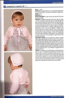 Manetes d'Or: Patrones chaquetas y capotas Baby Sweater Knitting Pattern, Knitting Patterns, Crochet Patterns, Knitting For Kids, Baby Knitting, Knit Crochet, Crochet Hats, Baby Sweaters, Baby Patterns