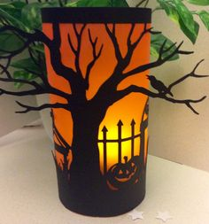 Why not Add that extra special touch to someones bedroom or living space with this gorgeous Keepsake.  Halloween Luminaries,