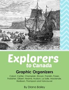 Explorers to Canada - Set of 28 Posters and 28 Student Templates. Beautiful posters of explorers who played a part in Canadian history. Student templates too, so students can design their own posters. Canadian History, American History, Teaching Social Studies, Teaching Resources, Teaching Ideas, Canadian Social Studies, Samuel De Champlain, Early Explorers, Study History