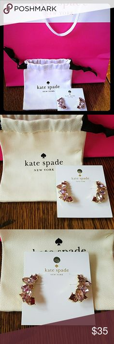 Kate Spade Earrings Kate Spade earrings  Lilac in color  NWT and dustbag kate spade Jewelry Earrings