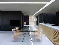 Hidden Lights Effect   Light Fixtures   False Ceiling Lights   Plasterboard Ceiling #blackandwhite #wood #kitchen