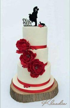 wedding cake with peonies by CakesByKlaudia - http://cakesdecor.com/cakes/271952-wedding-cake-with-peonies