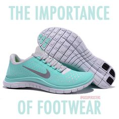The Importance of Proper Footwear.   Yes!! Because gym shoes are not the best choice for running outdoors!! :)