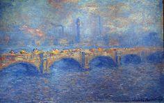 Claude Monet - Waterloo Bridge, Sunlight Effect, 1903