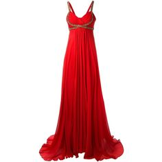 Marchesa Notte Embellished Evening Gown (3 710 PLN) ❤ liked on Polyvore featuring dresses, gowns, long dresses, vestidos, red, red dress, long evening dresses, red sequin gown, red evening dresses and long red evening dress