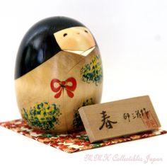 Lovely Creative Kokeshi Doll HARU (SPRING) by Usaburo