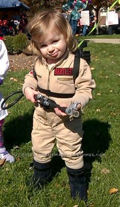 The Littlest Ghostbuster Homemade Costume - 2014 Halloween Costume Contest Toddler Ghostbuster Costume, Unique Toddler Halloween Costumes, Cute Costumes, Baby Costumes, Diy Ghostbusters Costume, Costume Ideas, Diy Halloween, Halloween Costume Contest, Toddler Activities