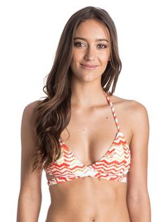 Roxy happy horizon halter girls bikini top