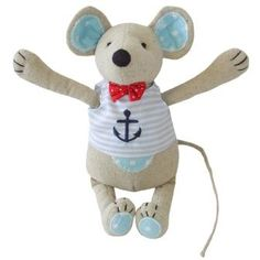 Monty Mouse Toy - Cute Monty Mouse toy, a perfect present for a little one.  He measures 20cms tall, designed & made by Powell Craft.