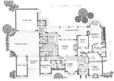 Luxury House Plan First Floor - 036D-0103 | House Plans and More