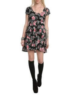Moth Floral Dress cute for school or for going out :)