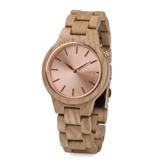 Wooden bow ties, wooden watches and other wooden accessories from one place. Handmade wooden bow tie is the easiest way to be stylish. Wooden Watch, Gold Watch, Watches, Ash, Accessories, Wooden Clock, Gray, Wristwatches, Clocks
