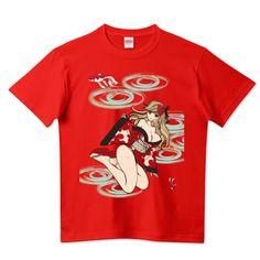 金魚姫 キモノガール 浴衣ミニ丈 可憐座 | デザインTシャツ通販 T-SHIRTS TRINITY(Tシャツトリニティ)