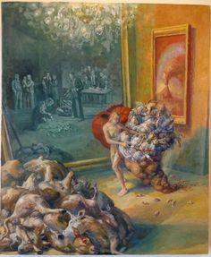 Julie Heffernan (American: 1956) - 'Study for Self Portrait as Gatherer,' 2013