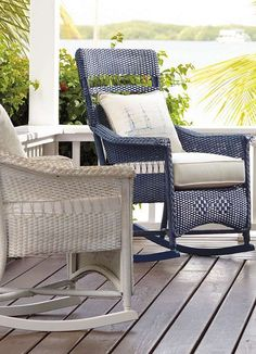 Enjoy the sights and sounds of your outdoor space while peacefully rocking on the Chatham Rocker; a timeless piece to last for years to come.