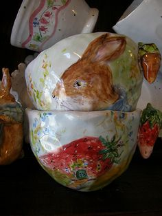 Woodland rabbit  by Julie Whitmore Pottery, via Flickr