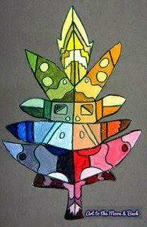 Art to the Moon & Back:  Organic Color Wheels, Grade 6