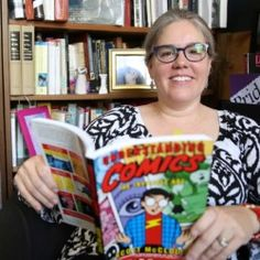 English Professor Heather King may be best known as teaching courses in 18th-century British literature, but there's a kid in her that loves to read fairy tales and comic books. She teaches Reading Comics and Culture and will soon be teaching a new course on Harry Potter and other fantasy tales.