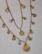 Metal Disc Necklace