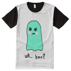 (Boo All-Over Print T-shirt) #Cute #Ghost #Halloween #Teens is available on Funny T-shirts Clothing Store   http://ift.tt/2dv9ReX