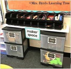 Byrd's Classroom 2016 Do you have a STEM or STEAM center in your classroom? Byrd's Learning Tree)Do you have a STEM or STEAM center in your classroom? Classroom Setting, Classroom Setup, Classroom Design, Science Classroom, School Classroom, Classroom Activities, Classroom Organization, Space Classroom, Classroom Tree