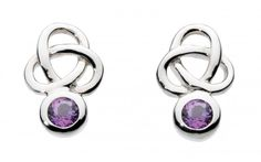Sterling Silver Heritage Small Trilogy Amethyst Stud Earrings |  Item#: 4348AM013  | Retail Price: $29.00|  Available to order at Andrew Gallagher Jewelers (302) 368-3380