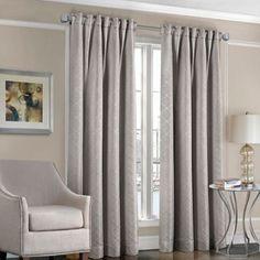 Designers' Select™ Satin Diamond Rod Pocket/Back Tab Window Curtain Panel - BedBathandBeyond.com