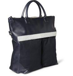 WANT Les Essentiels de la Vie - O'Hare II Leather-Trimmed Organic Cotton-Canvas Tote Bag|MR PORTER