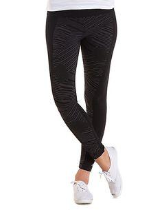 Skinny Geometric Print Athletic Pants: Charlotte Russe