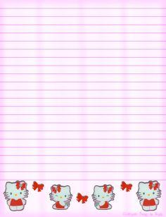 Hello Kitty Lined Stationery