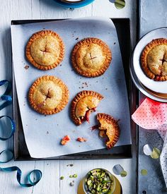 Sugar-crusted rhubarb hand pies recipe :: Gourmet Traveller