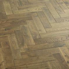 Oxford Brown Herringbone Oak Engineered Wood - 1