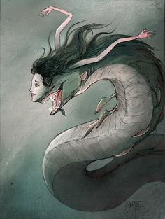 Beautiful mermaid by Hoodd Mermaid Drawings, Mermaid Art, Art Drawings, Mythological Creatures, Fantasy Creatures, Mythical Creatures, Creature Concept Art, Creature Design, Fantasy Kunst
