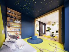 Family friendly home packed with modern decor ideas & home design features for different rooms. Find storage ideas, new furniture styles and colour combinations Furniture Styles, New Furniture, Futuristisches Design, Skyfall, Flat Interior, Lounge, Family Room Design, Contemporary Interior, Modern Decor