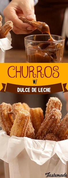You've tried churros dipped in chocolate, but have you tried sweet, dark and sticky caramel? Oh baby, you're in for a treat!