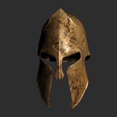 Spartacus 300 Helmet On | Spartan Helmet 300 Movie 3D print model