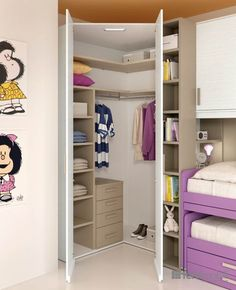 Super closet decor for kids 18 Ideas Corner Wardrobe Closet, Wardrobe Design Bedroom, Girl Bedroom Designs, Small Room Bedroom, Closet Bedroom, Room Decor Bedroom, Kids Bedroom, Small Room Design, Kids Room Design