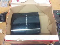 How not to package your PS3! Bad packaging is the engineers worst bane for #PS3repairs  http://www.theplaystationrepair.co.uk/