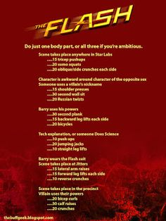 The Buff Geek: The Flash arms, legs, abs.
