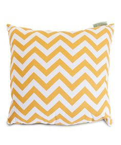 Love this Yellow Zigzag Indoor/Outdoor Extra-Large Pillow on #zulily! #zulilyfinds