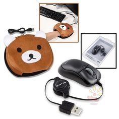 mousehand warmer. (http://www.everydaysource.com/product/belkin-usb-retractable-travel-mouse-usb-hand-warmer-mouse-pad-brown-bear/80634/)