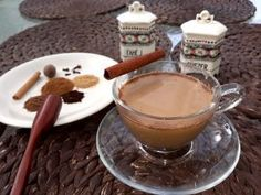 Latte, Pumpkin Pie Spice, Fondue, Spices, Cheese, Ethnic Recipes, Pink, Spice, Pink Hair